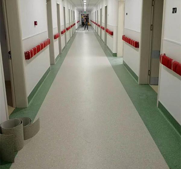 医院橡胶地板无缝拼接效果杠杠的